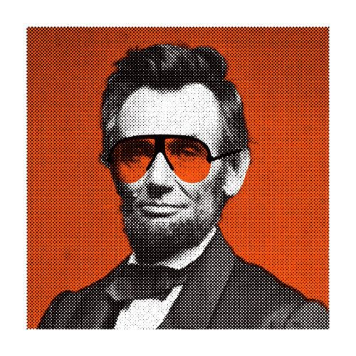 Aesthetic Apparatus: Abe Lincoln wearing BluBlockers.
