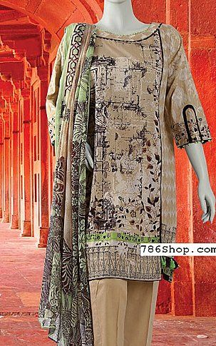 Beige Lawn Suit | Buy Junaid Jamshed Eid Collection Pakistani Dresses and Clothing online in USA, UK