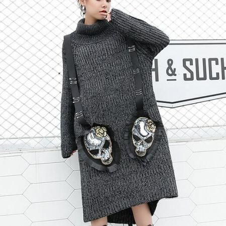 https://www.sweatshirtxy.com/personality-skull-sweater-dress-ribbon-for-women-high-collar-high-low-top-192319.html