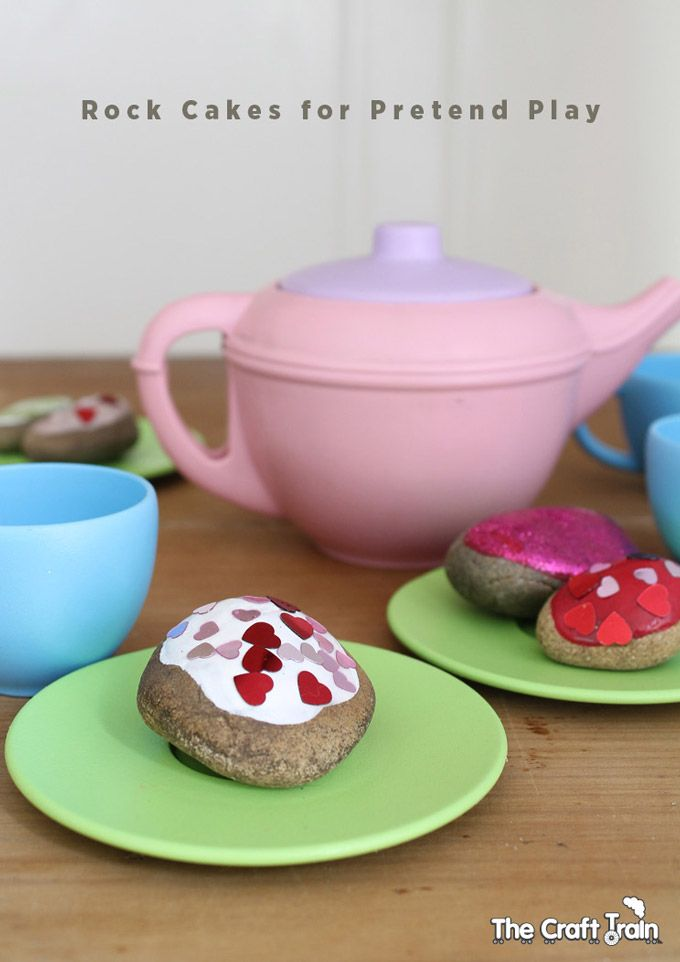 rock cakes for a pretend play tea party