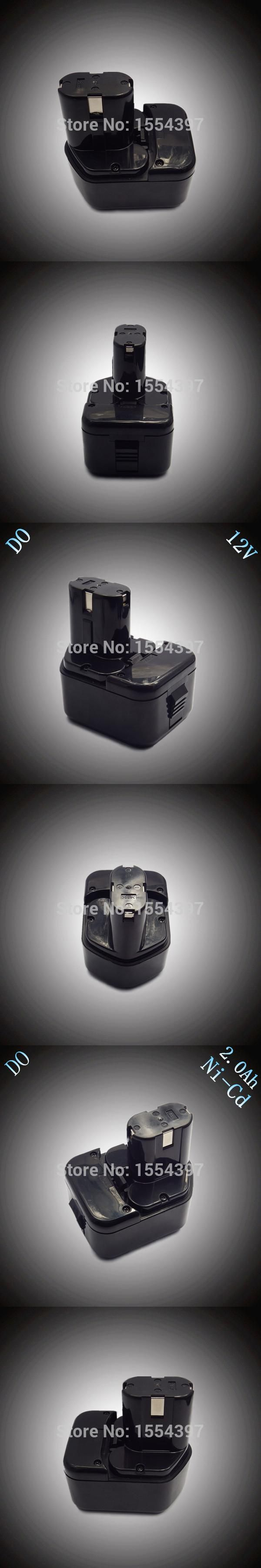 Sale 12V NI-CD 2000mAh Replacement for HITACHI Rechargeable Power Tool Battery EB1212S EB1220HL EB1220 EB1214S EB1230X EB1233X