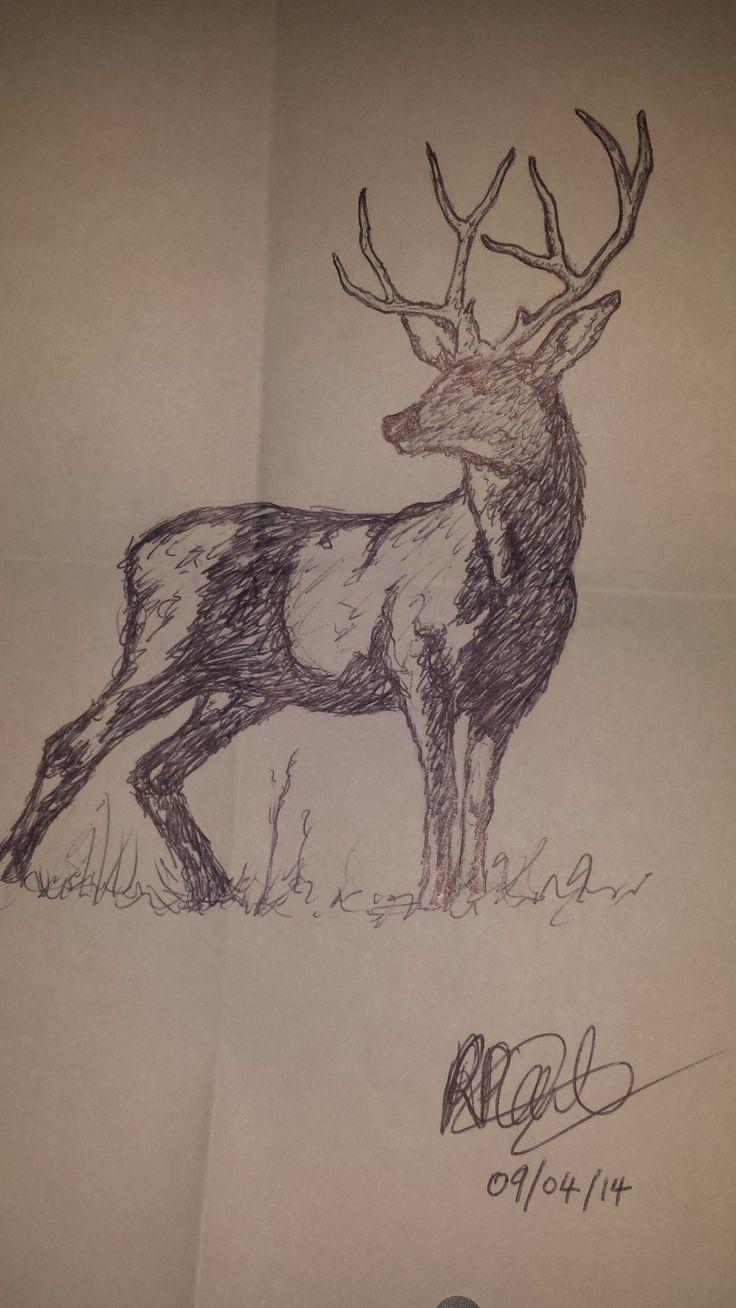 Deer sketch, Skyfall inspiration (Pen & Pencil)