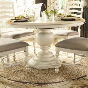 Paula Deen Home Round Pedestal Table in Linen | Nebraska Furniture Mart