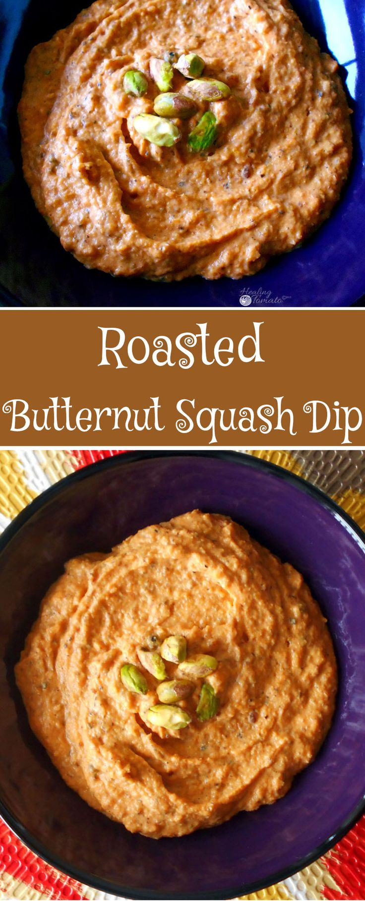 Roasted Butternut Squash Dip - Made using vegan yogurt even dairy. In fact, it's pure roasted Butternut, a dash of cinnamon, a squeeze of orange, and a drizzle of real Maple Syrup.