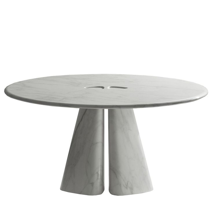 Raja Table BD 44 R by Bartoli Design. Round table completely made in marble, with base joint on the top. A minimal yet sophisticated design combines with the choice of the finest marbles, respecting Laurameroni attention to details and materials. | Laurameroni