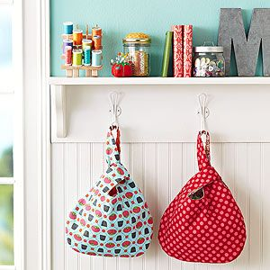 Add this simple carryall to your bag of sewing tricks. Pick two fabrics, one for the exterior and one for the lining, and whip up the trendy shape in a flash.