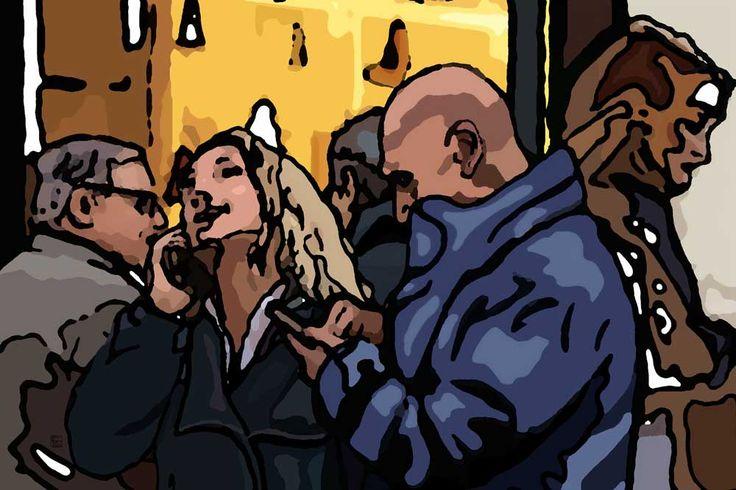 Comunicando 124×83 cm. Digitale e Smalto 2016 Vote for this artwork!Please clickFacebook like,Twitter, PinterestandGoogle plus Vota questa opera!CliccaMi piacesu Facebook,Twitter, PinteresteGoogle plus Giuseppe Tabacco (Piacenza– Italy) nasce a Catania nel 1961. Ha compiuto gli studi nel 1984 presso l'Accademia di Belle Arti di Brera dove si è specializzato in scenografia. G.T. è un artista poliedrico …