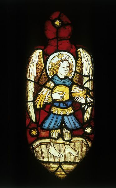 Stained Glass panel by the Norwich School, England, 1460-1480. l Victoria and Albert Museum #Christmas #AngelTrail