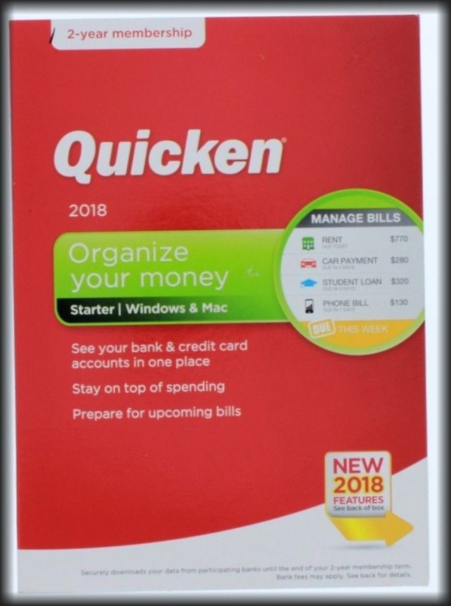 Personal Finance Tax and Legal 158906: Quicken Starter 2018 (2-Year