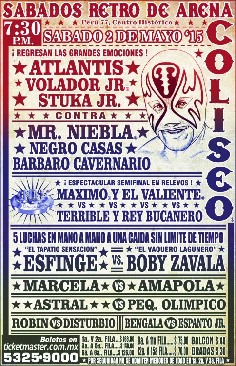 carteleras lucha libre - Google Search