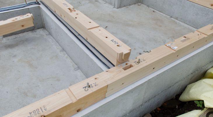 土台敷き 画像あり 家を建てる 木造住宅 建てる