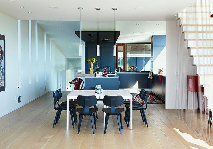 El Topo Dining Area With De Padova Table Kitchen