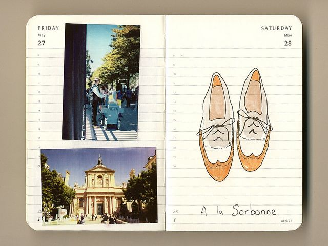Travel Journal-record sketches, thoughts, diaries entries, pictures, & postcards while traveling!
