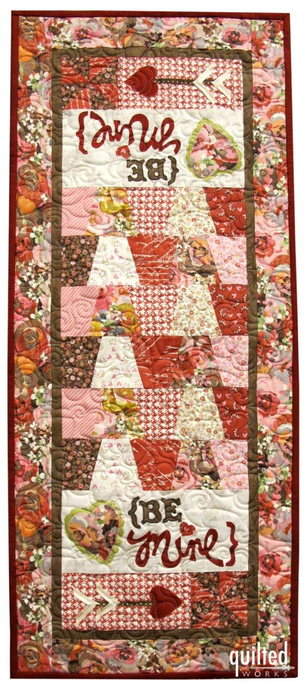 Be Mine Valentine Table Runner Block Of The Month Quilt