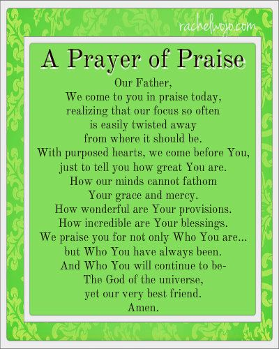 a prayer of praise for any day