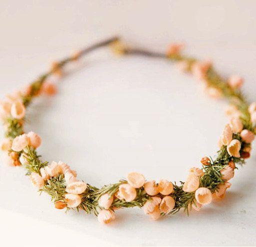 vintage flower head wreath