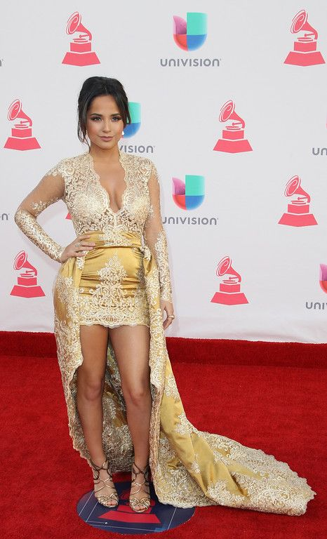. Becky G arrives for the 17th Annual Latin Grammy Awards on November 17, 2016, in Las Vegas, Nevada.  (TOMMASO BODDI/AFP/Getty Images)