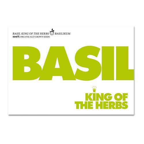 Bio-Saatgut 'basil king of the herbs' - Basilikum - S.W.W.S.W.