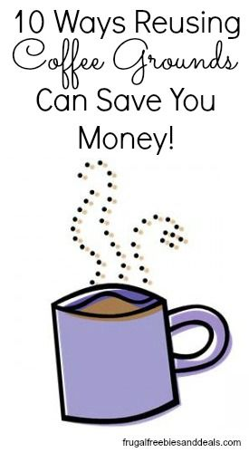 Did you know you could reuse coffee grounds?  You can, and save some #money doing it.