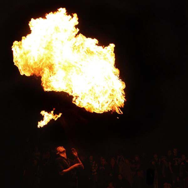 FIRE SPINNING STAFF: 140cm/1400mm (55 inch) with 300mm (12inch) KEVLAR wicks - $125 - Fyregear AUSTRALIA www.fyregear.com