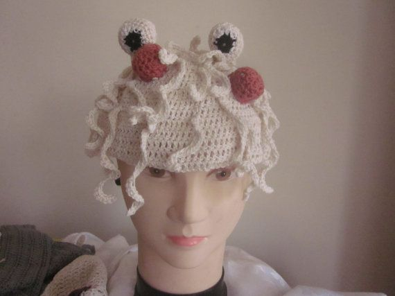 Flying spaghetti monster crocheted from by knightwhosaidknit