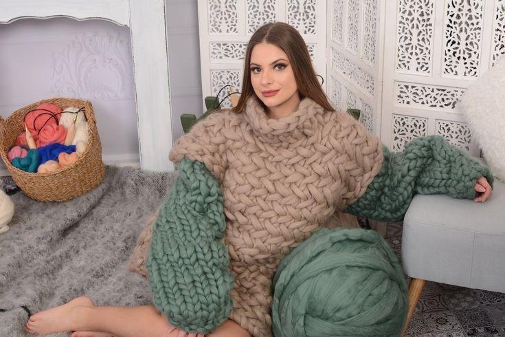 Autumn winter sweater Chunky knit Oversize unisex wool sweater Christmas sweater, Soft merino wool Oversize pullover