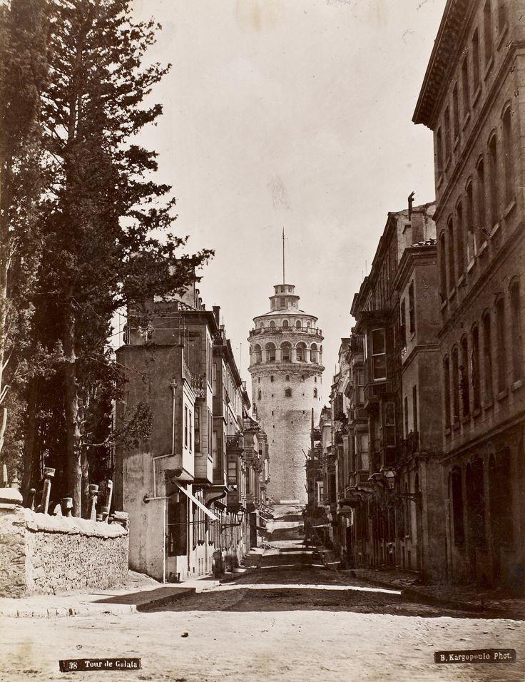 Galata Kulesi Basile Kargopoulo Fotoğrafı 1875