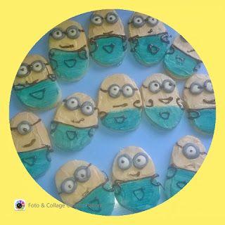 lericettediziasara: biscotti minions senza burro ( minions cookies wit...