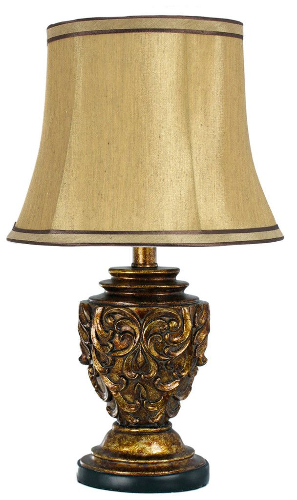 The 20 best vintage lamps images on pinterest vintage lamps antique gold polyresin table lamp with 10 inch gold shade aloadofball Image collections