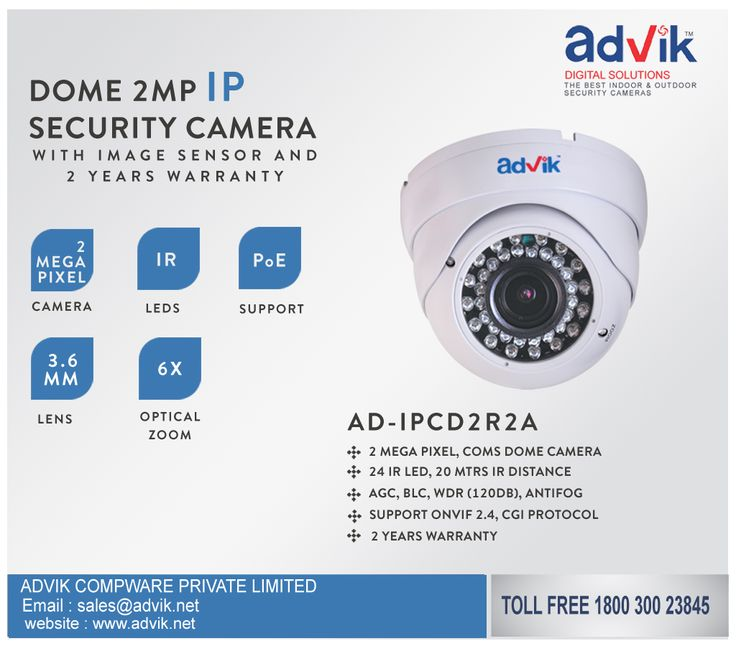 Explore the range of advance ‪#CCTVSecurity‬ & ‪#Surveillance‬ camera's on Advik's website http://advik.net