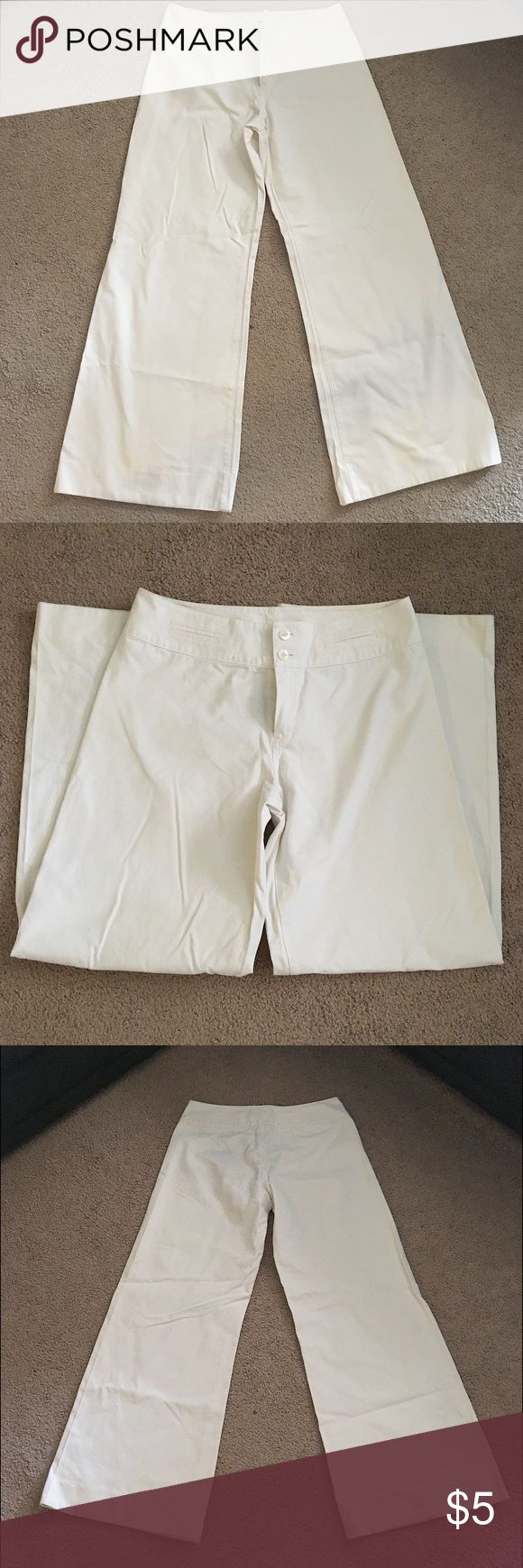 White Flare Pants Women's white flare pants with two buttons. High wasted and comfortable. Lightweight material - great for spring/summer. No trades! Polo by Ralph Lauren Pants Boot Cut & Flare