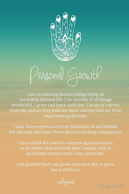 Affirmation - Personal Growth by CarlyMarie                                                                                                                                                      More