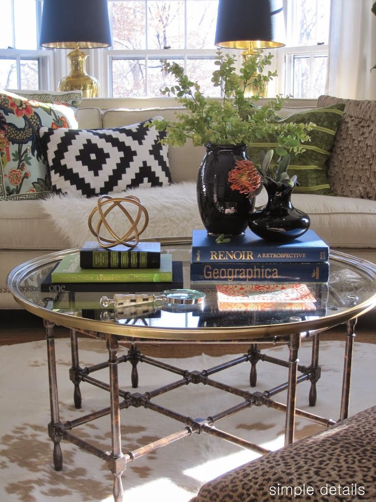 Simple Details: coffee table reveal and styling tips - 25+ Best Ideas About Coffee Table Accessories On Pinterest