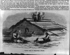 "1858 engraving [Umpqua Indians of Oregon Territory: ""winter lodge of the Umpqua Indians""] Library of Congress"
