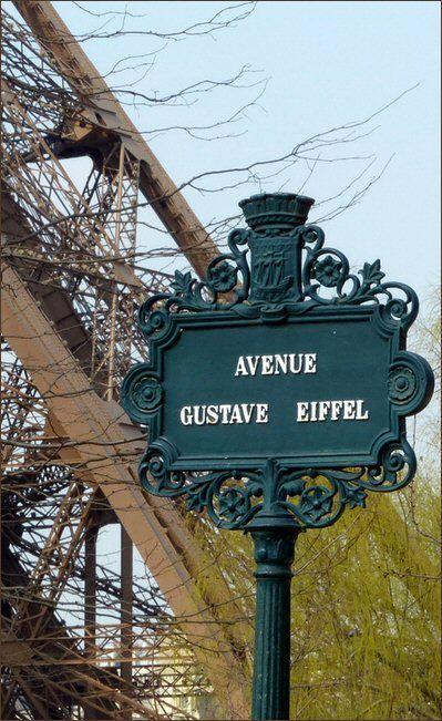 avenue Gustave-Eiffel - Paris 7ème L'avenue porte depuis un arrêté du 5 mai 1965 le nom de l'ingénieur et un industriel français Alexandre Gustave Eiffel (A Dijon, le 15 décembre 1832 - A Paris, le 27 décembre 1923), célèbre pour la construction de la Tour Eiffel, devenue le symbole de la ville de Paris.