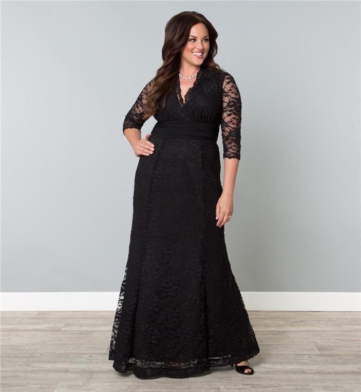 Black dress plus size bridesmaid dresses