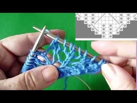 Как вязать начало шали (ленточка) Вяжем с Людмилой Тен - YouTube