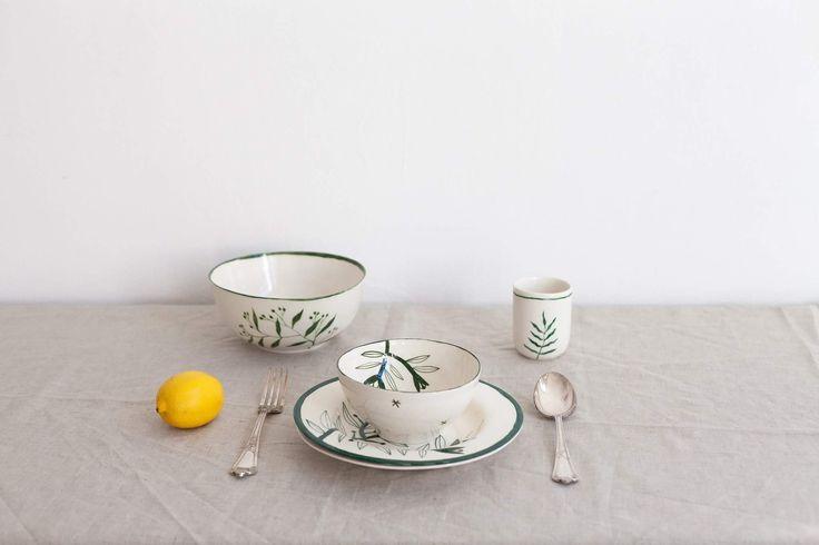 Madalina Andronic Ceramics  Custom made, hand painted porcelain tableware  http://ceramics.madiandronic.com