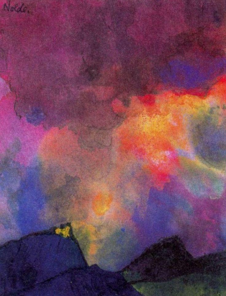 Emile Nolde, Dark Mountain Landscape