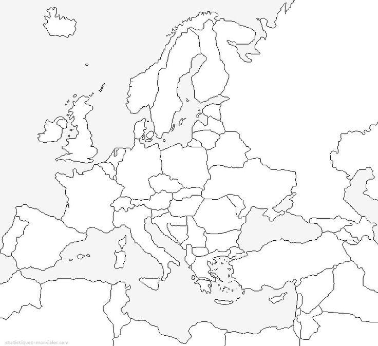 Kaart van Europa SCHOOL Pinterest Colors and Van