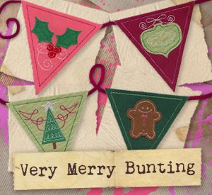 Very Merry Bunting (Design Pack) | Urban Threads: Unique and Awesome Embroidery Designs