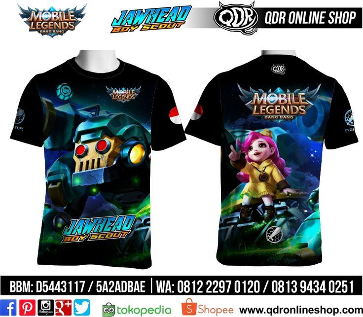 T-Shirt Mobile Legends Jawhead Skin Boy Scout untuk pemesanan: BBM D5443117 / 5A2ADBAE (Qdr online shop) WA/LINE 081222970120 / 08129434025 www.qdronlineshop.com