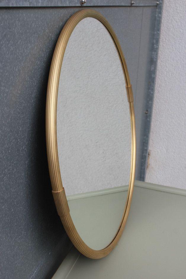 Awesome Vintage Spiegel Spiegel mit Messing Rahmen er ein Designerst ck von CologneVintageProjekt bei DaWanda