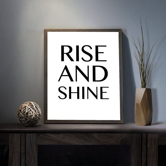 Rise and Shine Digital Art Print  Inspirational Get by deificusArt