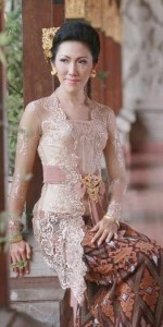National dress kebaya Indonesia