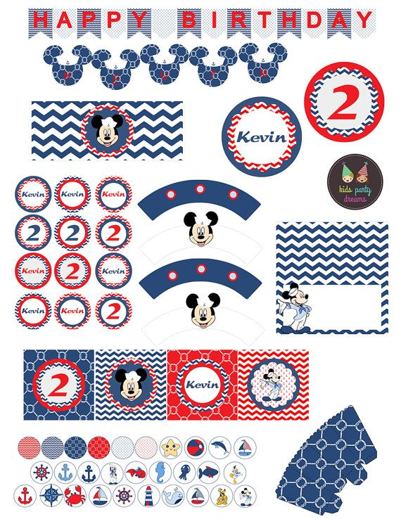 Nautical Mickey Mouse Party Sailor Mickey Mouse by KidsPartyDreams