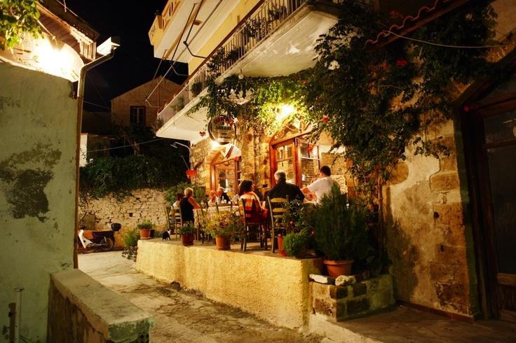 A restaurant in Platanias, Crete, Greece