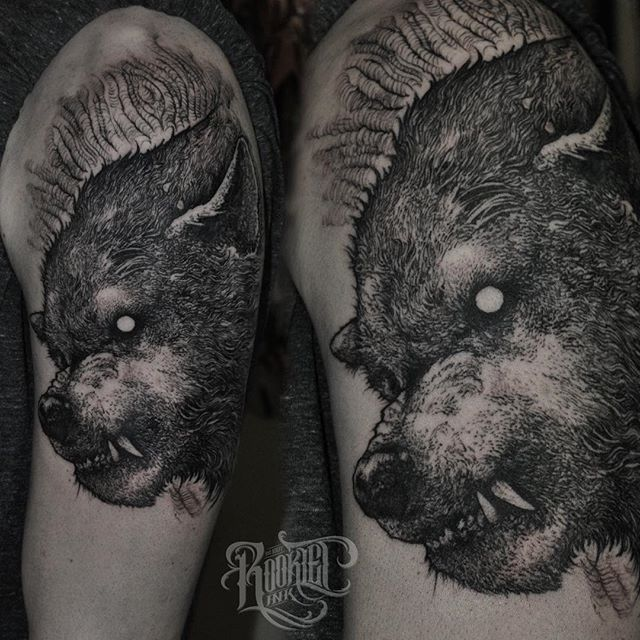 Wof tattoo by Robert Borbas @ grindesign