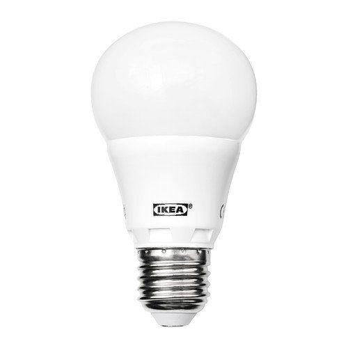 LED Light Screw Bulb E27, Opal White 400lm Luminous Flux by Ikea LEDARE Ledare http://www.amazon.co.uk/dp/B00HP2ZNU8/ref=cm_sw_r_pi_dp_Q8oUub173GJQZ