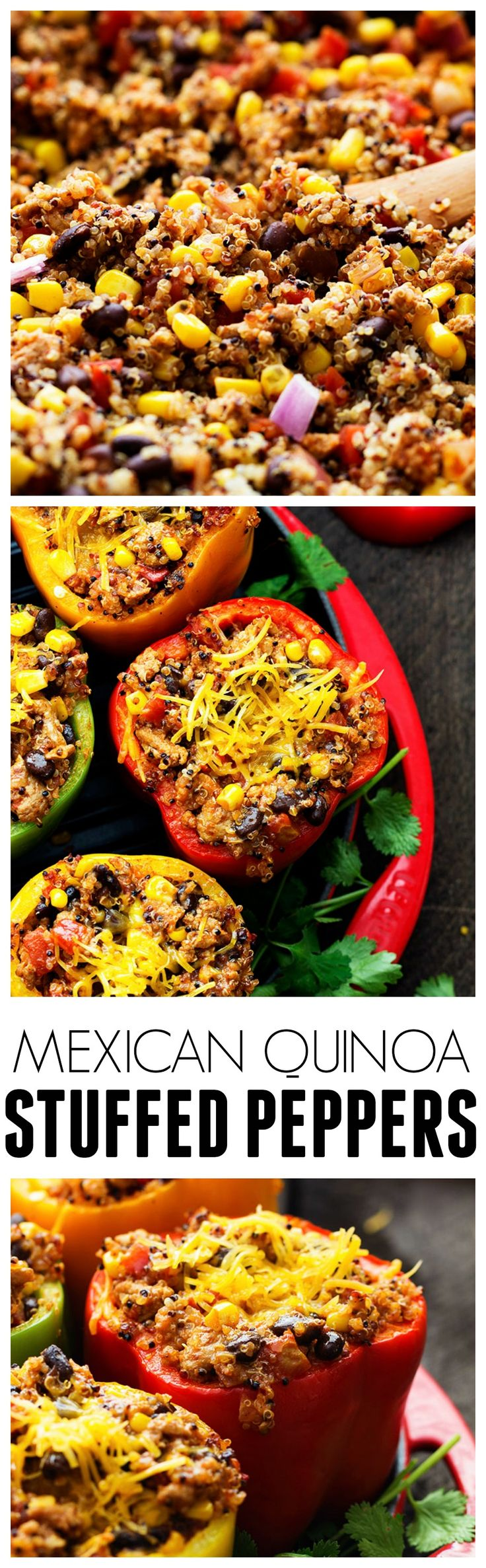 Mexican Quinoa Stuffed Peppers - Full of flavor and so healthy for you! The added quinoa is amazing!